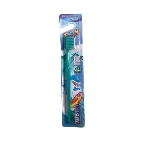 Escova Dental Infantil Cerdas Macias em Blister - Medfio