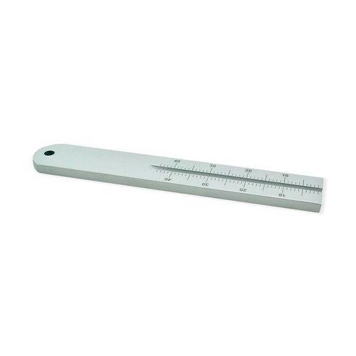 Régua de Alumínio Milimetrada Endodôntica - Maquira
