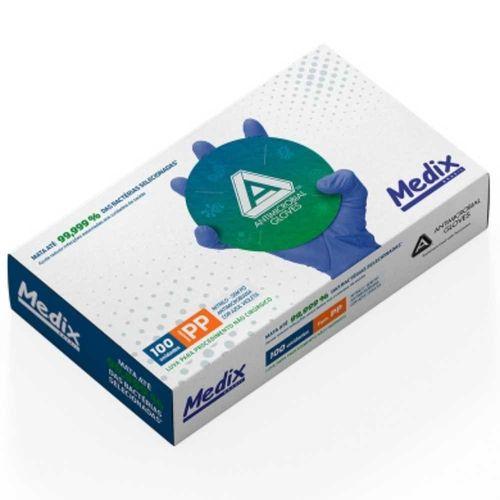 Luva para Procedimento Nitrilo Azul Violeta - Medix