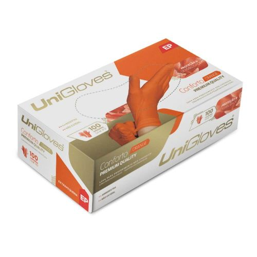 Luva de Procedimento Laranja - Unigloves
